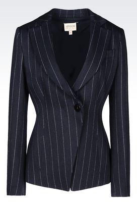 Armani One button jackets Women pinstripe jacket
