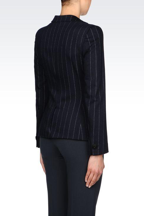 PINSTRIPE JACKET: One button jackets Women by Armani - 3