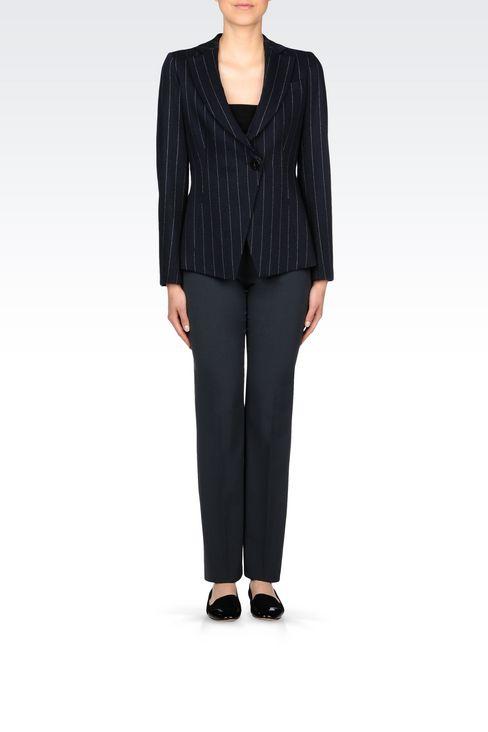 PINSTRIPE JACKET: One button jackets Women by Armani - 2