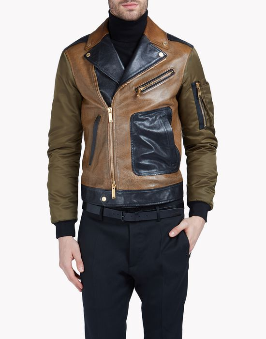 dirty vintage leather kiodo coats & jackets Man Dsquared2