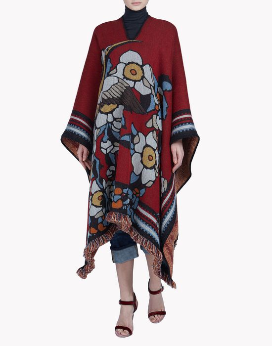 blossom poncho coats & jackets Woman Dsquared2
