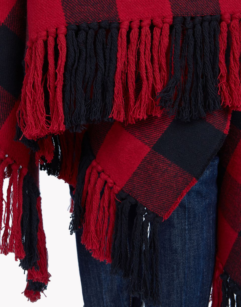 canadian check poncho coats & jackets Woman Dsquared2