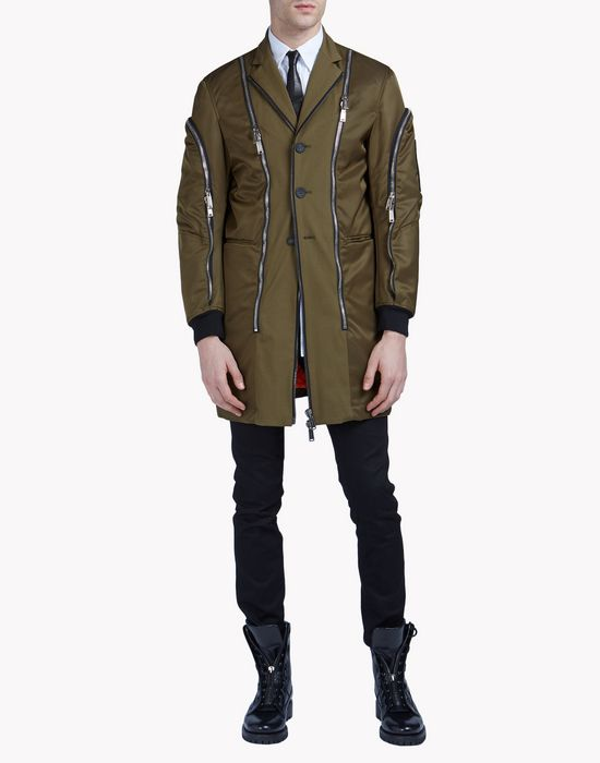 zipped coat coats & jackets Man Dsquared2