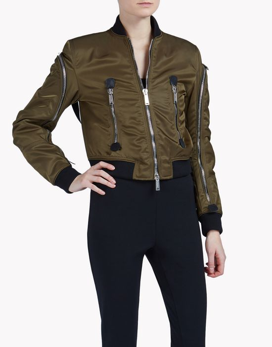 zipped bomber coats & jackets Woman Dsquared2