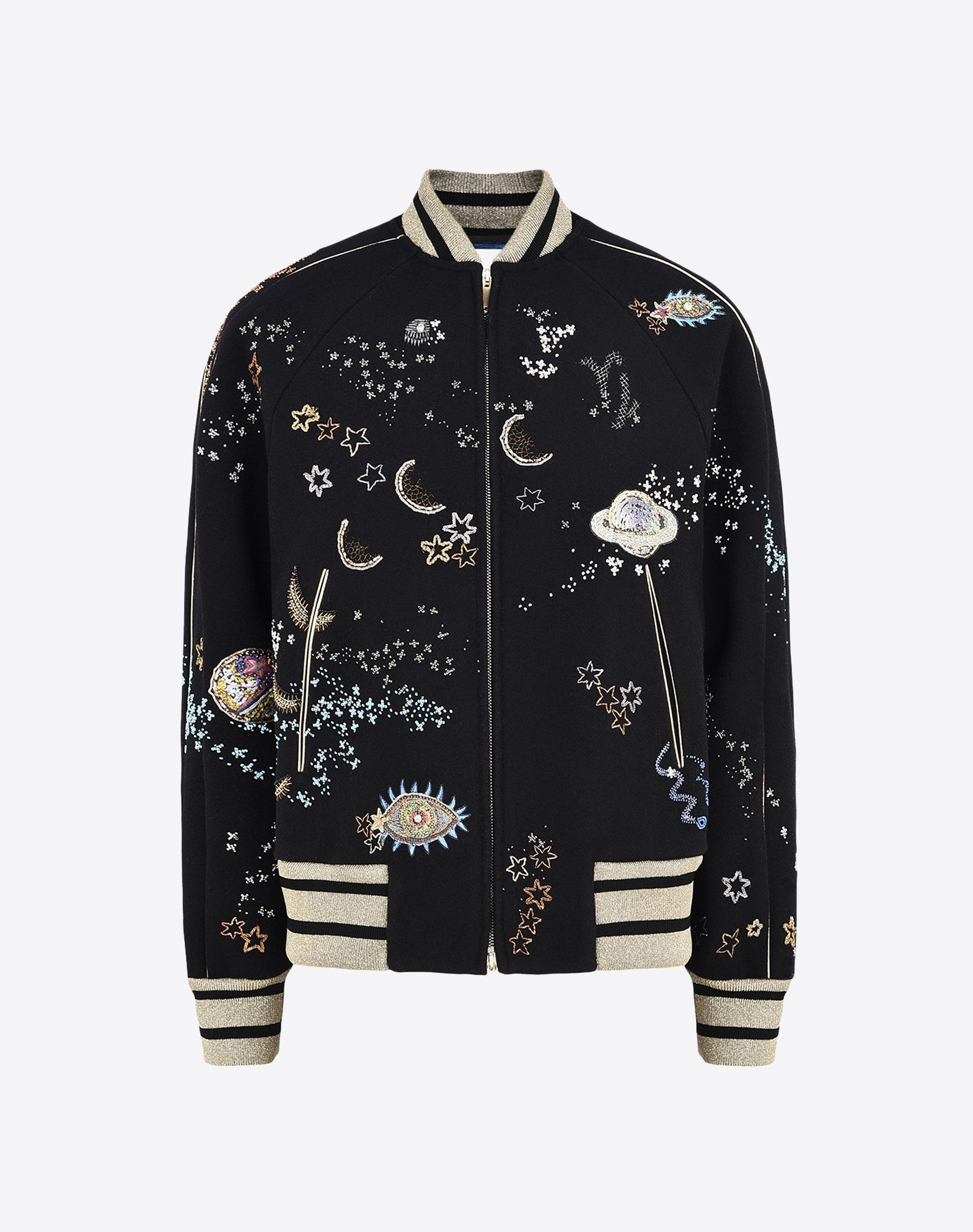 Valentino varsity jacket in embroidered felt jackets for