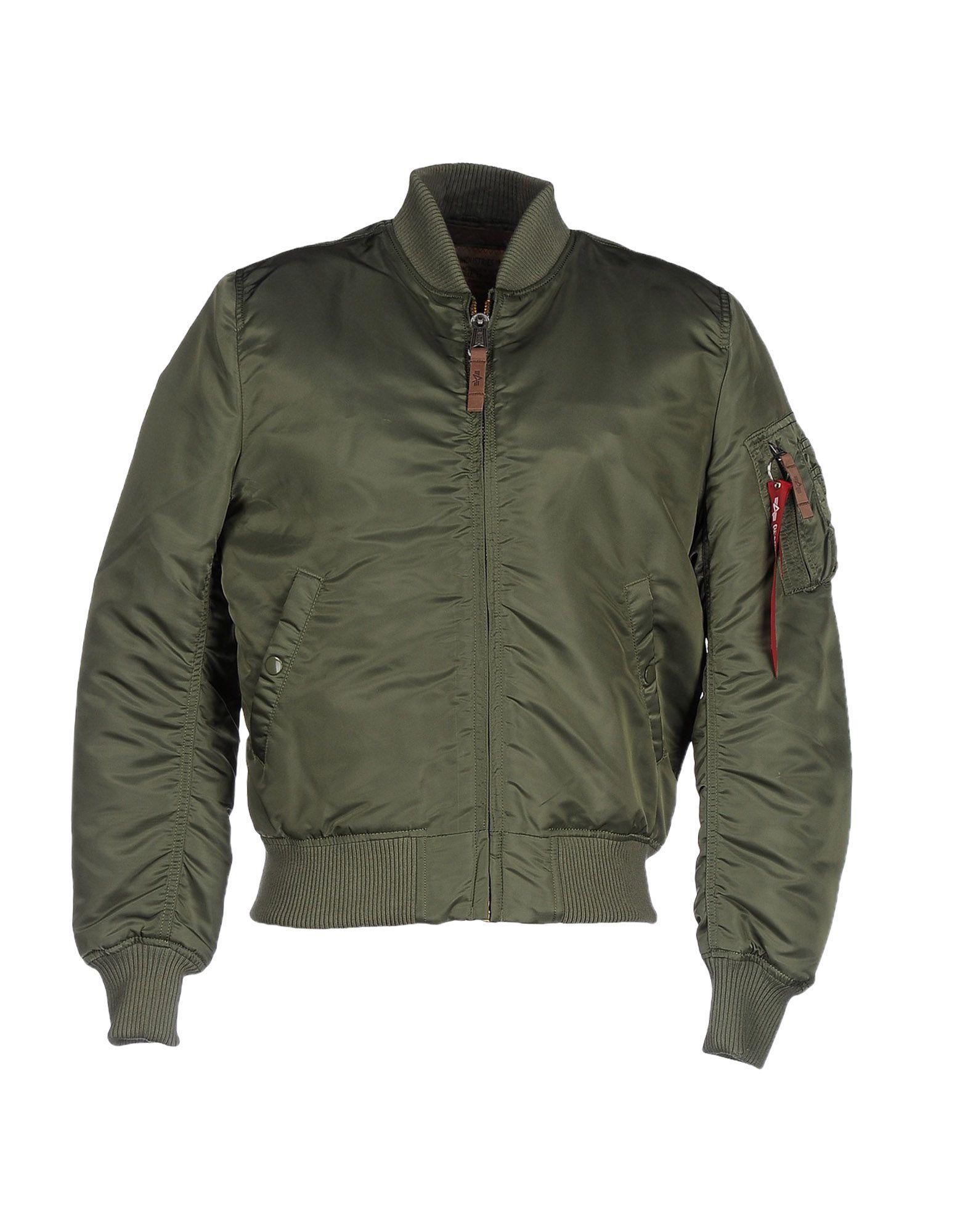 ALPHA INDUSTRIES INC. Herren Jacke Farbe Militärgrün Größe 8