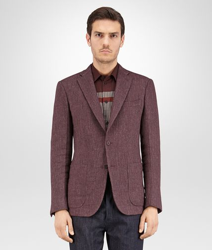 JACKET IN DARK BAROLO WOOL LINEN