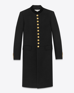 Officer Coat in Black Wool