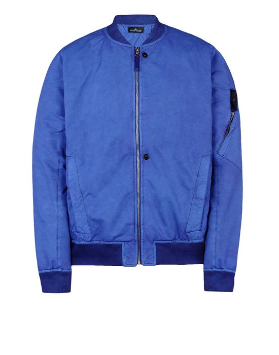 Jacket 40503 BOMBER JACKET _ DAVID-TC WITH FALLOUT COLOUR TREATMENT<br>GARMENT DYED SINGLE LAYER FABRIC STONE ISLAND SHADOW PROJECT - 0