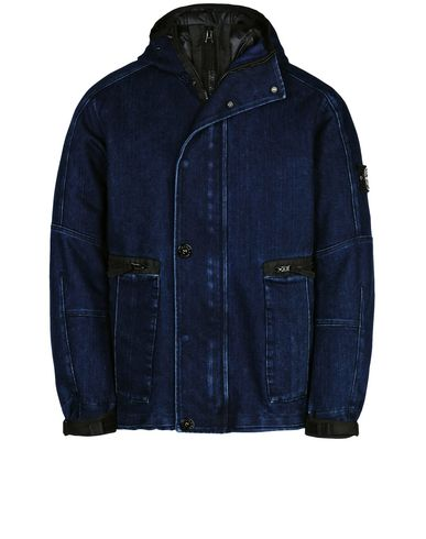 STONE ISLAND Jeansjacke/Mantel 42334 POLYPROPYLENE DENIM WITH DETACHABLE LINING IN PRIMALOFT® INSULATION TECHNOLOGY