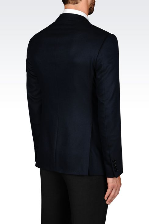 SLIM FIT JACKET IN VISCOSE BLEND: Two button jackets Men by Armani - 3