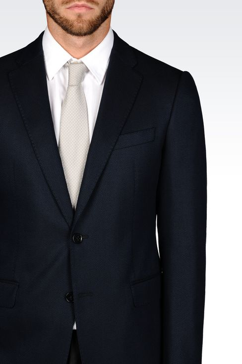 SLIM FIT JACKET IN VISCOSE BLEND: Two button jackets Men by Armani - 4