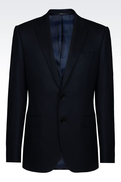 SLIM FIT JACKET IN VISCOSE BLEND: Two button jackets Men by Armani - 1