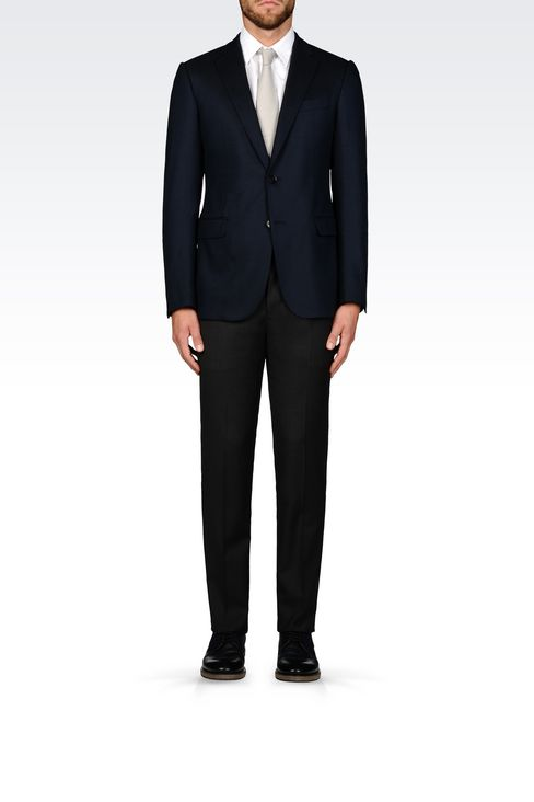 SLIM FIT JACKET IN VISCOSE BLEND: Two button jackets Men by Armani - 2
