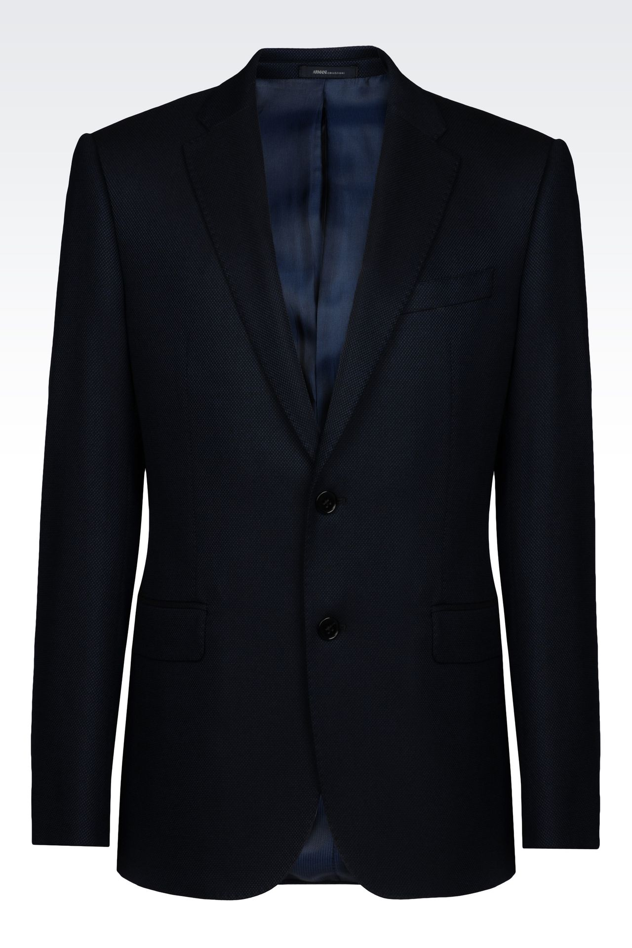 SLIM FIT JACKET IN VISCOSE BLEND: Two button jackets Men by Armani - 0