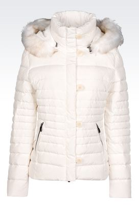 Armani Down coats Women down jacket with detachable hood