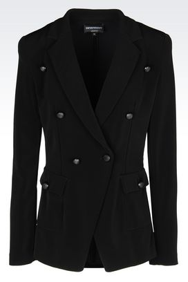 Armani Double-breasted jackets Women double-breasted jacket in ottoman