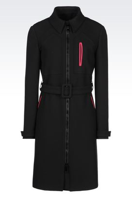 Armani Coats Women coat in technical fabric