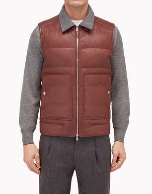 BRUNELLO CUCINELLI Leather outerwear U MPMEL1259 f