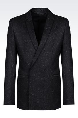Armani Double-breasted jackets Men jacket in wool blend