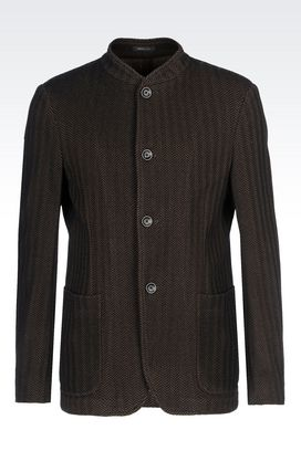 Armani Dinner jackets Men deconstructed jacket in jersey