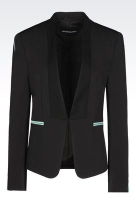 Armani Jackets Women jacket in technical twill