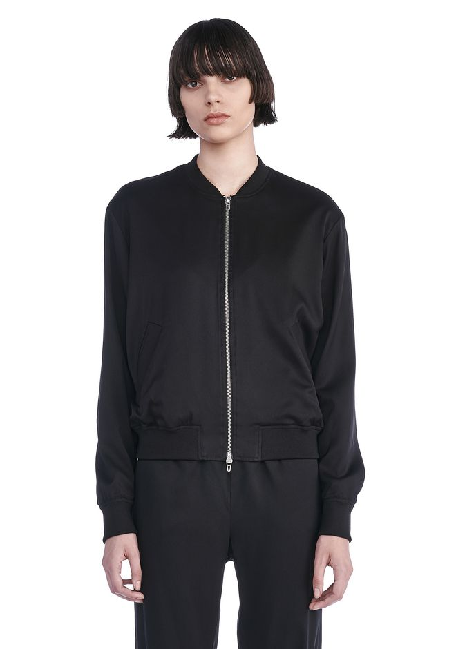 T by ALEXANDER WANG BOMBERS Women STRETCH SILK TWILL BOMBER