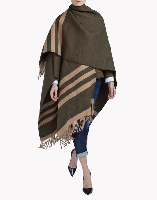 poncho coats & jackets Woman Dsquared2