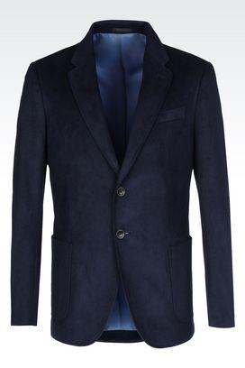 Armani Two buttons jackets Men velvet jacket