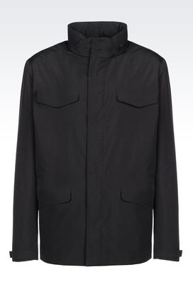 Armani Mid-length jackets Men jacket in technical fabric