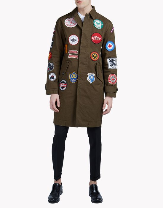 patch military coat coats & jackets Man Dsquared2