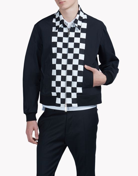 checkboard front panel sports jacket coats & jackets Man Dsquared2