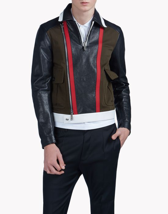 military biker leather bomber coats & jackets Man Dsquared2