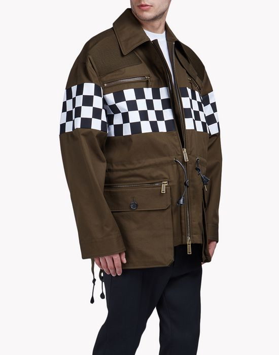 checkboard mini parka coats & jackets Man Dsquared2