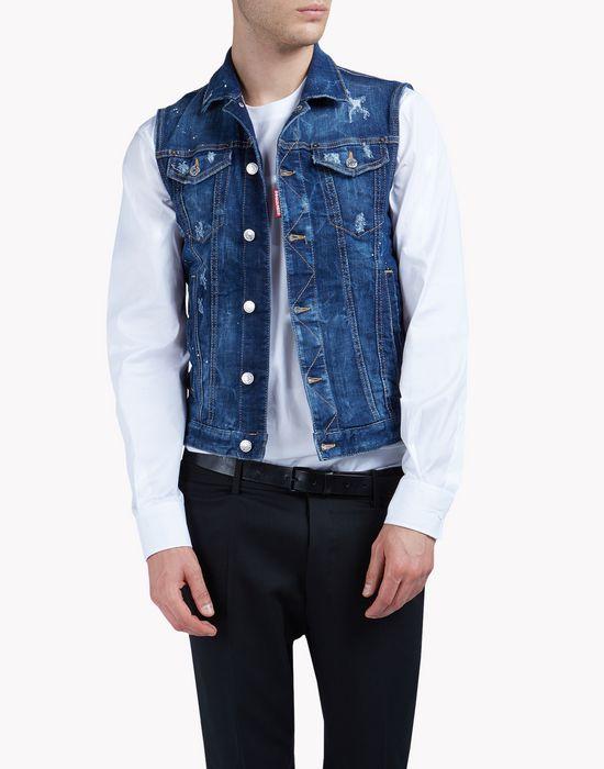 jean vest coats & jackets Man Dsquared2