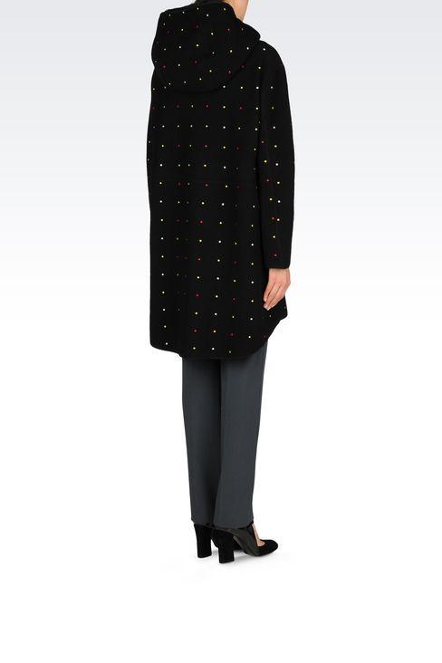 RUNWAY JACKET WITH FUR HOOD: Coats Women by Armani - 4