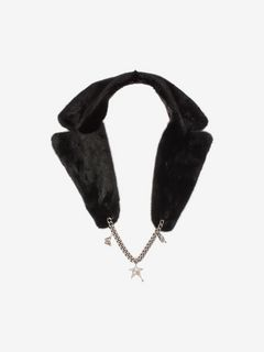 Mink Fur Collar with Medallion Chain