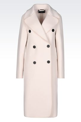 Armani Double-breasted coats Women double-breasted coat in broadcloth