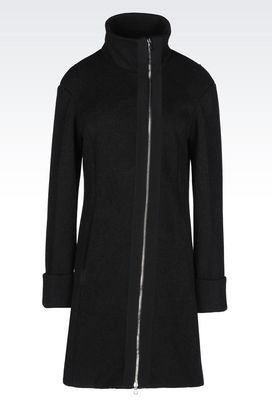 Armani Coats Women coat in technical fleece