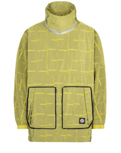 STONE ISLAND Jacket 457J4 STONE ISLAND HOUSE CHECK JACQUARD ON NYLON METAL BLACK WATRO _ PACKABLE