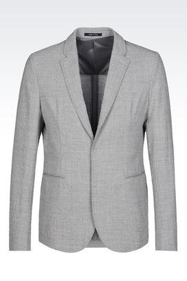 Armani Jackets Men jacket in seersucker
