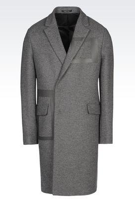 Armani Coats Men runway coat in broadcloth