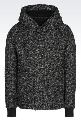 Armani Blouson jackets Men bouclé blouson with hood