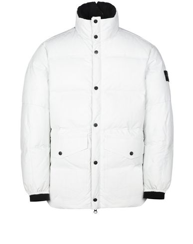 STONE ISLAND Mid-length jacket 00196 FEATHERWEIGHT LEATHER DOWN