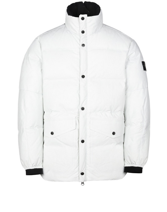 74e7232c9c9 Mid-length jacket 00196 FEATHERWEIGHT LEATHER DOWN STONE ISLAND - 0