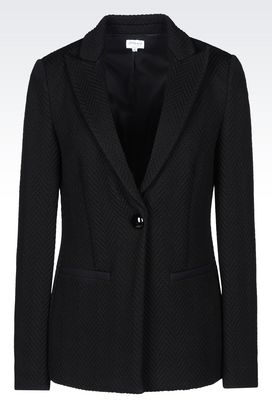 Armani One button jackets Women jacket in jacquard