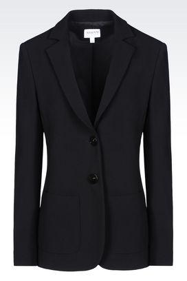 Armani Two buttons jackets Women crêpe jacket