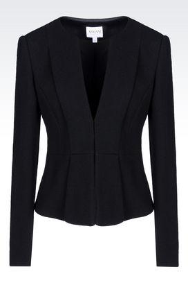 Armani Dinner jackets Women crêpe jacket