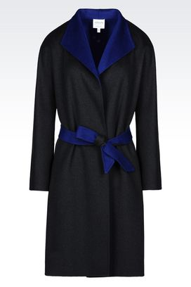 Armani Single-breasted coats Women coat in wool and cashmere