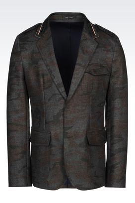 Armani Vestes Homme veste en tissu camouflage